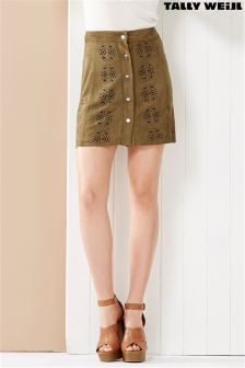Tally Weijl A line Suede Mini Skirt