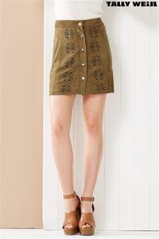 Tally Weijl A line Suede Mini Skirt