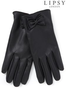 Lipsy Touch Screen Technology Bow Gloves
