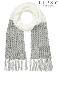 Lipsy Knitted Colourblock Scarf