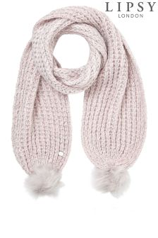 Lipsy Knitted Lurex Scarf
