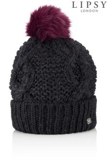 Lipsy Coloured Fur Pom Hat