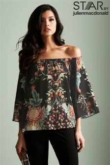 Star By Julien Macdonald Oriental Off The Shoulder Top