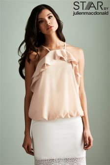 Star By Julien Macdonald Ruffle Halter Top