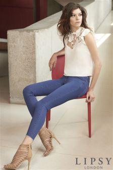 Lipsy Raw Hem Crop Jeans