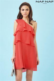 Naf Naf One Shoulder Summer Dress