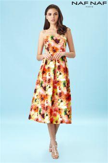 Naf Naf Long Line Bustier Dress