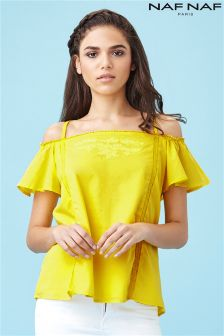 Naf Naf Summer Bardot Top