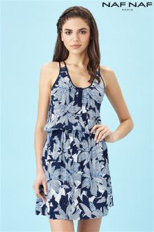 Naf Naf Abstract Floral Print Summer Dress