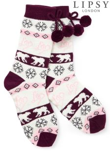Lipsy Fairisle Slipper Sock