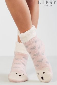 Lipsy Polar Bear Slipper Sock