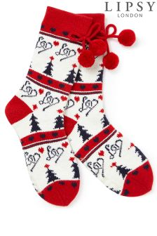 Lipsy Festive Slipper Sock