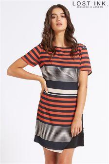 Lost Ink Stripe Dress