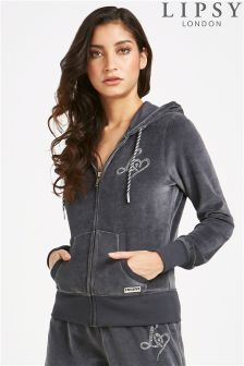 Lipsy Love Sequin Diamante Hoody