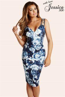 Jess Wright Floral Print Pleated Midi Dress