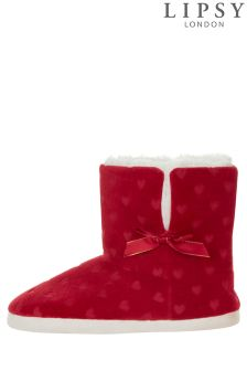 Lipsy Heart Print Booties
