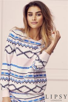Lipsy Fairisle Print Long Sleeve Top