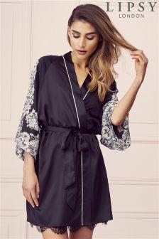 Lipsy Lace Print Robe