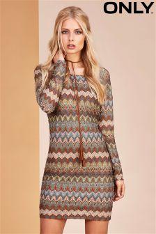 Only Crochet Long Sleeves Dress