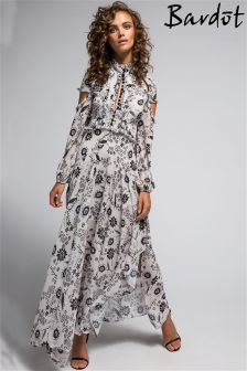 Bardot Floral Print Ruffled Maxi Dress