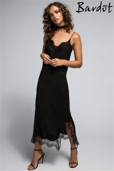 Bardot Lace Midi Slip Dress