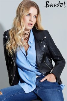 Bardot Leather Biker Jacket