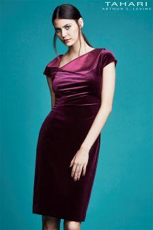 Tahari Velvet Envelope Dress