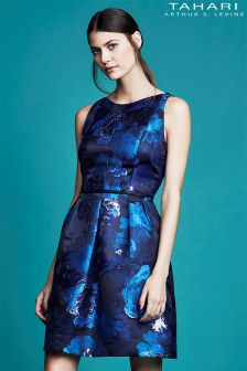Tahari Metallic Jacquard Dress