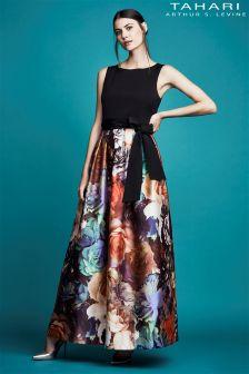Tahari Floral Print Maxi Dress