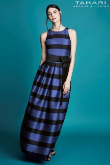 Tahari Stripe Maxi Dress