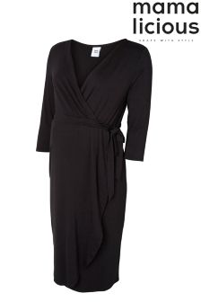 Mamalicious Maternity Jersey Wrap Dress