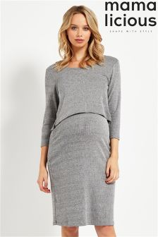 Mamalicious Maternity 3/4 Knit Dress