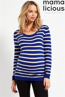 Mamalicious Maternity Long Sleeves Knit Top