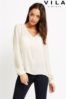 Vila V Neck Blouse