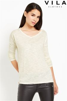 Vila V neck Jumper