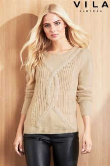 Vila Cable Knit Jumper