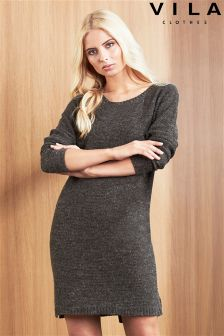 Vila Rib Knit Dress
