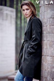 Vila Tie Wrap Coat