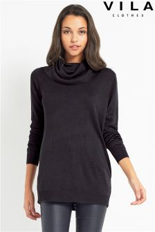 Vila Drape Neck Jumper