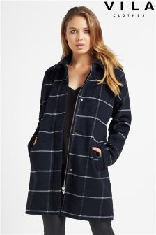 Vila Check Detail Coat