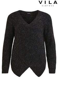Vila Wrap Knit Jumper