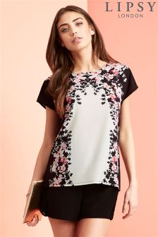 Lipsy Placement Floral Tee