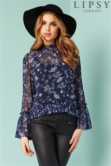 Lipsy Printed Wrap Blouse 101