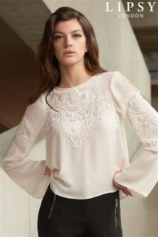 Lipsy Applique Angle Sleeved Blouse