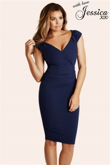 Jessica Wright Ruched Bodycon Dress