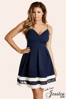Jessica Wright Strappy Skater Dress