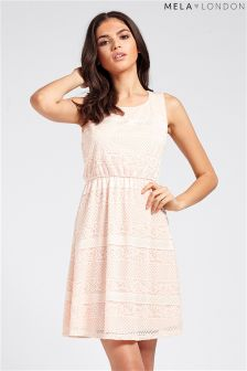Mela Mixed Lace Skater Dress