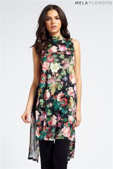 Mela Floral High Cut Long Tunic