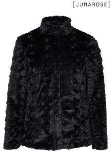 Junarose Short Faux Fur Jacket