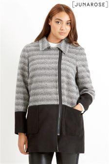Junarose Contrast Plus Size Jacket
